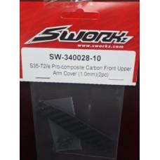 S35-T2/e Pro-composite Carbon Front Upper Arm Cover (1.0mm)(2pc)