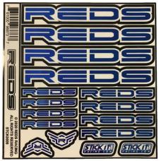 "STICKER SHEET REDS 6x6"" (Chrome Blue)"
