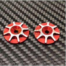 FR0504RO FasTrace Wing Buttons Aluminum Washers for wing 1/8 Buggy Red